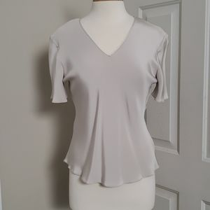 New Peter Cohen 100% Silk Short Sleeve Blouse